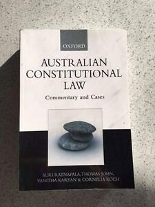 australian constitutional law notes An overview of the australian constitution were eliminated with the passage of the australia act in 1986 the constitution operates with the courts of law.