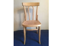 Single, wooden, German dining/easy chair