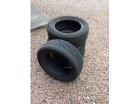 4 Nearly New Car Tyres 215/55R16 93H