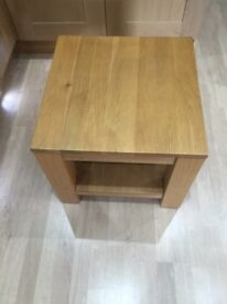 2 x Solid Oak Coffee / Lamp Tables