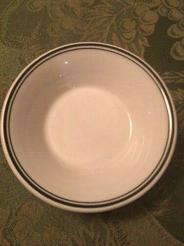 Shenango China USA 6 Custard Dessert Bowls White/ Black Stripe