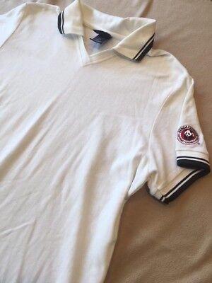 Halloween Express Logo (Panda Express Mens/Womens White Polo Shirt Top - Logo on Sleeve -)
