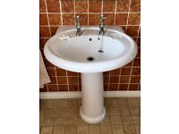 Ensuite sink and toilet
