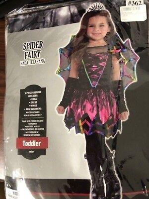 Amscan Spider Fairy - Toddler (3-4) Children Costume - Girls Spider Fairy Costume