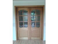 Oak internal double doors