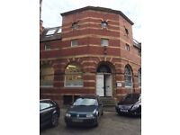 small offices in converted Leith warehouse