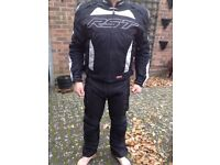 Motorbike padded jacket and padded trousers