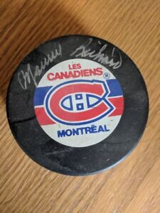 Montreal Canadiens Maurice Richard Autographed Puck 9
