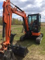 Mini Excavator and Skid Steers for RENT