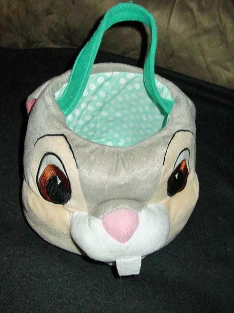 Disney : Thumper Bunny Rabbit Easter Basket or Tote Cute Soft For Child or Decor