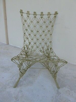RARE MARCEL WANDERS DROOG DESIGN KNOTTED CHAIR @ 1998