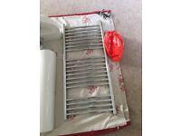 heated towel radiator, length 100cm width 45cm
