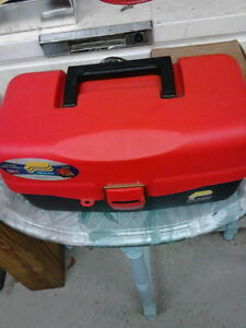 Plano 2 tier tackle box with lures and baits London Ontario image 1