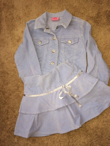 Girl Skirt and Jacket 2  Piece Set, Size 4