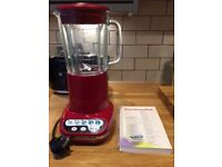 Kitchenaid Blender finished in red. Hardly used and like new. Complete with owners manual.