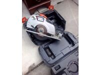 L@@K HOW CHEEP THIS IS BLACK AND DECKER LARGE CIRCULAR SAW