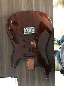 Warmoth Stratocaster guitar body.