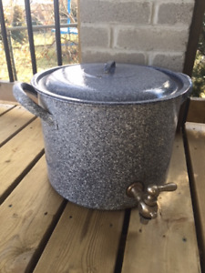 Vintage CANNING POT with LID and SPIGOT