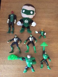 Lot of 8 loose GREEN LANTERN Action Figures & Toys