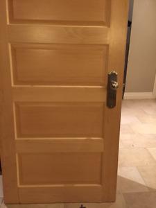 Solid core interior wood doors