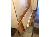 FREE assortment of wood (ply and skirting) in variety of shapes and sizes