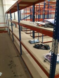 Rapid 1 industrial long span shelving 2 meter high ( pallet racking , storage )