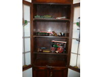 ART DECO SOLID OAK DISPLAY CABINET