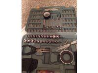 Socket and drill bits set
