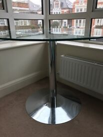 Contemporary Heal's glass dining table