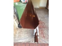 3 METRE LENGTHS OF BROWN SQUARE GUTTER