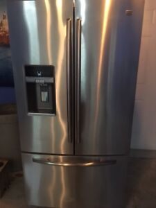 3 Year Old Maytag Lg 29 Cub. Stainless Steel French Door Fridge