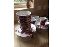 beautiful poppy design plates, bowls, mugs etc £8 for the lot