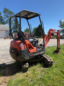 2013 Kubota KX41 Excavator with canopy / rubber tracks