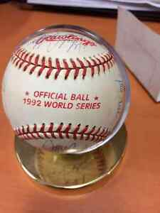 Authentic 1992 Blue Jays World Series Baseball Signed by Team