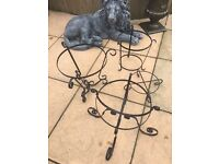 Wrought iron planter stands excellent condition