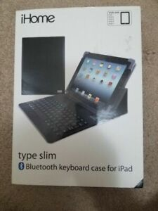 Brand New iHome Type Slim Bluetooth Keyboard Case for iPad 2/3/4