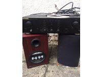 Marantz integrated amplifier and Mordaunt-Short speakers