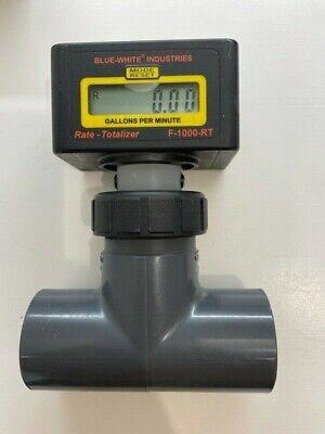 1.0 Blue White Industries F-1000 Series Digital Flow Meter Totalizer