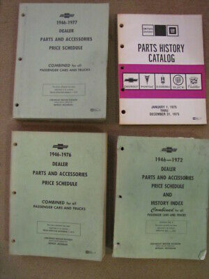 Chevrolet Dealer Parts and Accessories Price Schedules and History 1972-1977 (4)