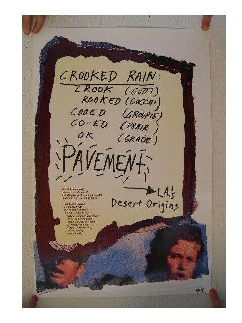Pavement Poster Crooked Rain