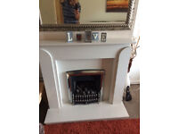 Lovely Marble Effect Fire Surround and Gas Fire