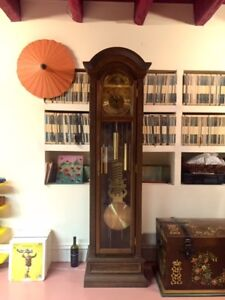 Authentic Grandfather's clock from Black Forest, Germany