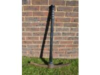 Full Size Pickaxe - Black Fibreglass Handle - Good Working Condition