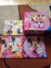 Mickey mouse clubhouse set of 3 boxed jigsaws