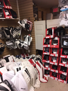 LOTS OF USED AND NEW GOALIE. @ Rebound!!