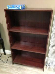 HAS TO GO NOW - burgundy bookcase