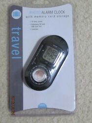 Travel Photo Alarm Clock - Memory Card Storage - BRAND NEW IN PACKAGE