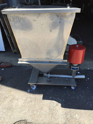 Stainless Steel Bin Loader With Bottom Discharge Pipe