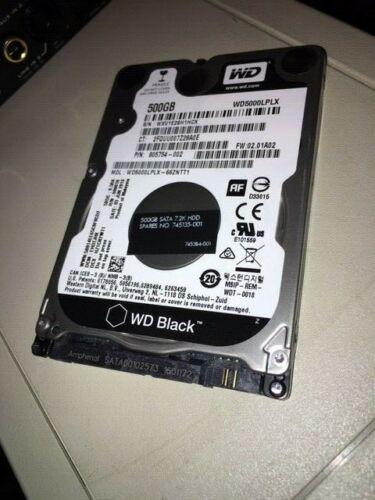 WD Black 500GB Internal SATA Hard Drive for Laptops WD5000LPLXSP