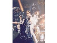 Star Wars signed postcard signed by six cast members